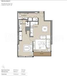 1 BHK Apartment in The Residences at Marina Gate