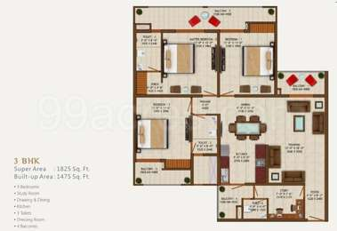 3 BHK Apartment in Sethi Venice