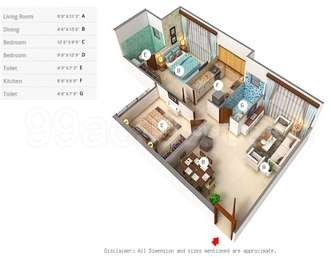 2 BHK Apartment in Sethia Grandeur