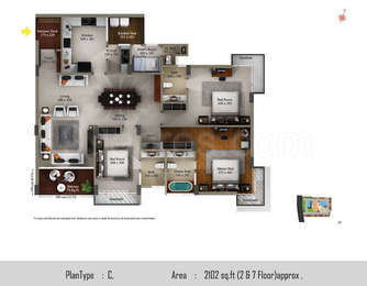 3 BHK Apartment in SFS Beverly Park