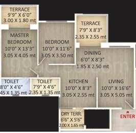 2 BHK Apartment in Perfect 10