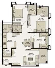 3 BHK Apartment in Shaligram Flora