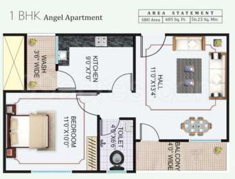 1 BHK Apartment in Sheetalnath Dham