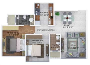 2 BHK Apartment in Sheth Montana