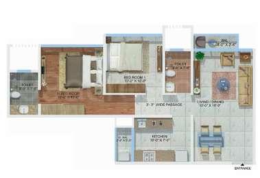 2 BHK Apartment in Sheth Montana