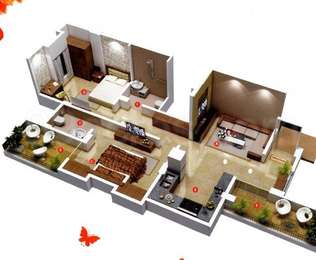 2 BHK Apartment in Shinde Sparsh