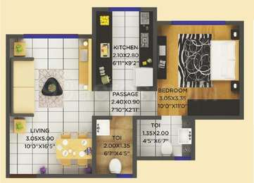 1 BHK Apartment in Shiv Shakti Tower 28