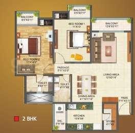 2 BHK Apartment in Shivraj Residency