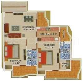 2 BHK Apartment in Shivalik Mittals Attalika