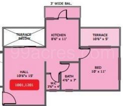 1 BHK Apartment in Tara Athena