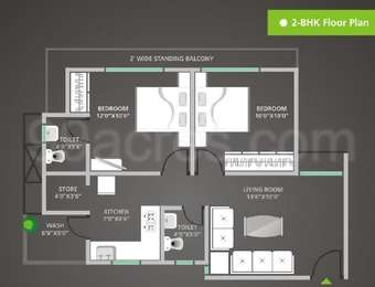 2 BHK Apartment in Shree Balaji Agora Residency