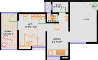 1 BHK Apartment in Shree Manibhadra Wakad Centre