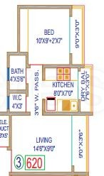 1 BHK Apartment in Shree Ostwal Heights