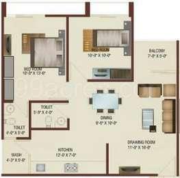 2 BHK Apartment in Shri Balaji Enclave
