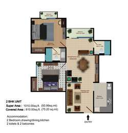 2 BHK Apartment in Shri Frazer Heights