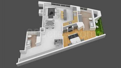 Shristi The V - 1BHK+1T(2), Super Area: 1328 sq ft, Apartment