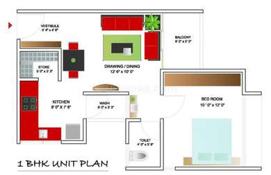 1 BHK Apartment in Shubh Aarambh