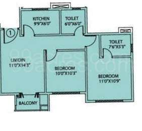 2 BHK Apartment in Siddha Happyville