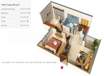 1 BHK Apartment in Siddha Town