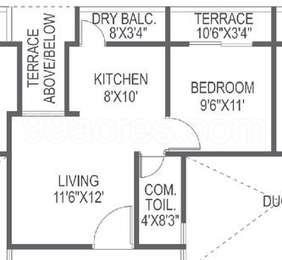 1 BHK Apartment in Sigma Centuria