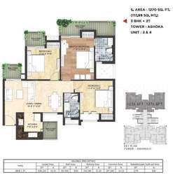 3 BHK Apartment in Sikka Kimaantra Greens