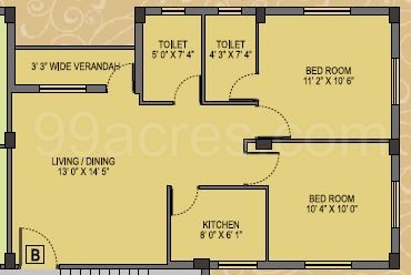 2 BHK Apartment in Skyline Bliss
