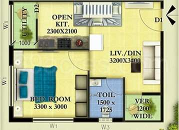 1 BHK Apartment in Nestwood Maple