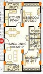 2 BHK Apartment in KKRS SMR Vinay Fountainhead