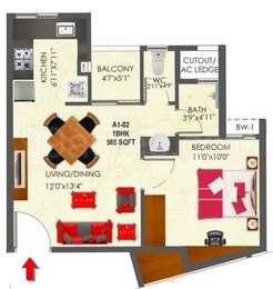 1 BHK Apartment in SNN Raj Etternia