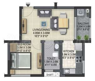 1 BHK Apartment in Sobha Winchester