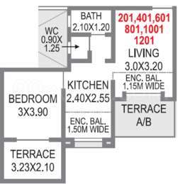 1 BHK Apartment in Sonigara Blue Dice