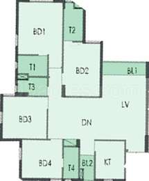 4 BHK Apartment in South City