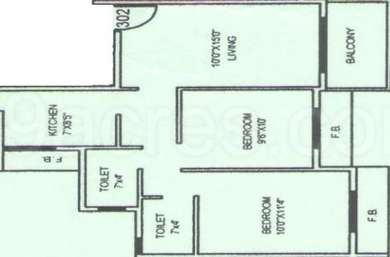 2 BHK Apartment in Space India Royal Meadows Residency