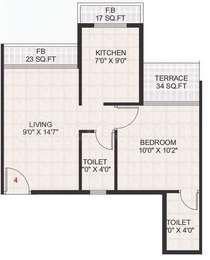 1 BHK Apartment in Kailash Uptown