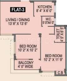 Spotlight Rainbow - 2BHK+2T(13), Super Area: 878 sq ft, Apartment