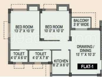 Spotlight Rainbow - 2BHK+2T(11), Super Area: 844 sq ft, Apartment