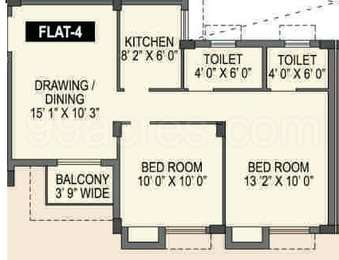 Spotlight Rainbow - 2BHK+2T(8), Super Area: 840 sq ft, Apartment