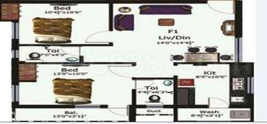 2 BHK Apartment in SPP Realty Spring