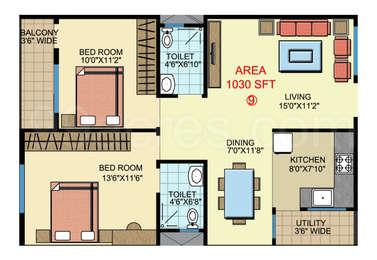 2 BHK Apartment in Sri Chakra Blossom