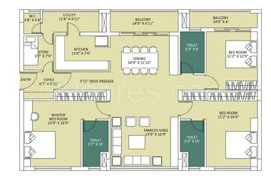 3 BHK Apartment in The Address