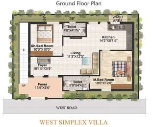 2 BHK Villa in Srirasthu Nature Homes
