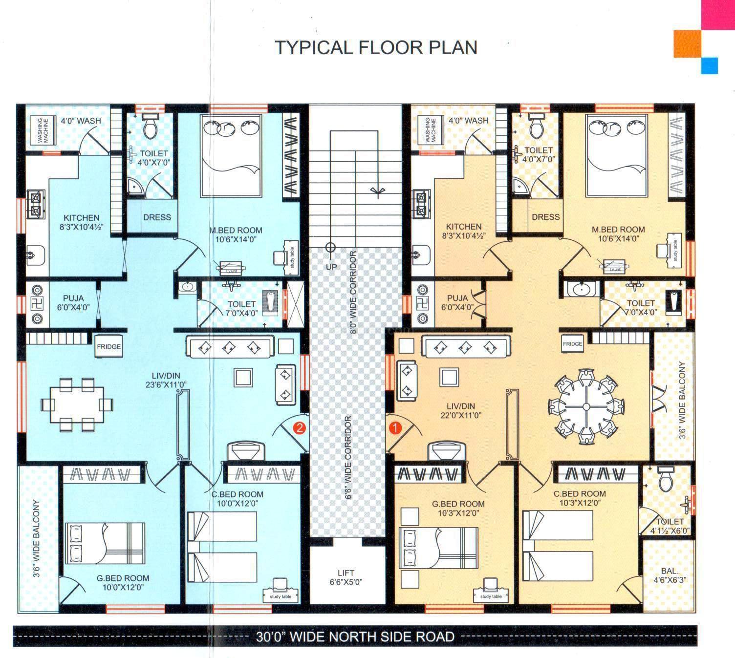 Super Area 1360 Sq Ft Apartment
