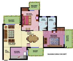 2 BHK Apartment in SRS Residency