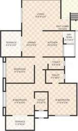 SSD Sai Dreams - 3BHK+3T(3), Super Area: 1351 sq ft, Apartment