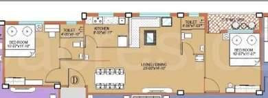2 BHK Apartment in Starlite Sunny Divine