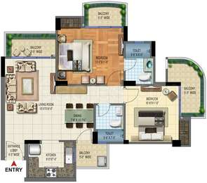 2 BHK Apartment in Strategic Royal Court