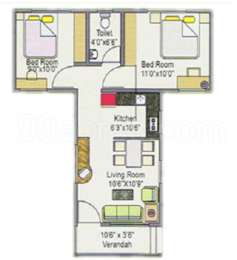 2 BHK Apartment in Sumitra Parvati Angan