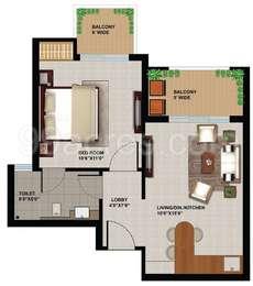 1 BHK Apartment in Sunworld Arista