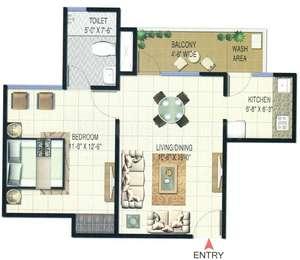 1 BHK Apartment in Sunworld Vandita