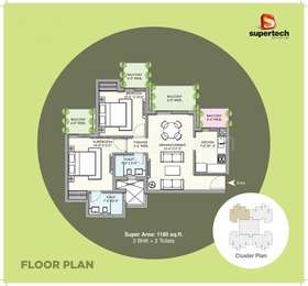 2 BHK Apartment in Supertech Hues